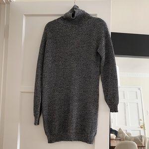 Turtleneck Mini Sweater Dress